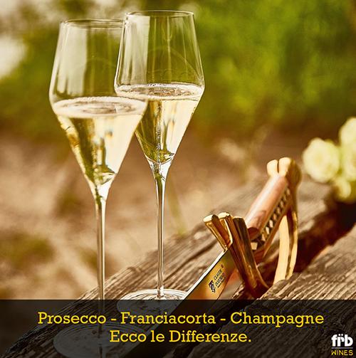Differenze prosecco franciacorta champagne